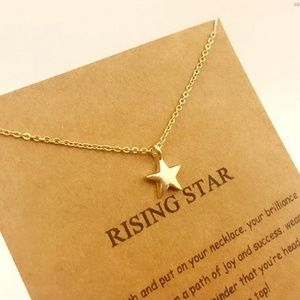Jewelry - Rising Star Dainty Gold Minimalist Necklace B2B